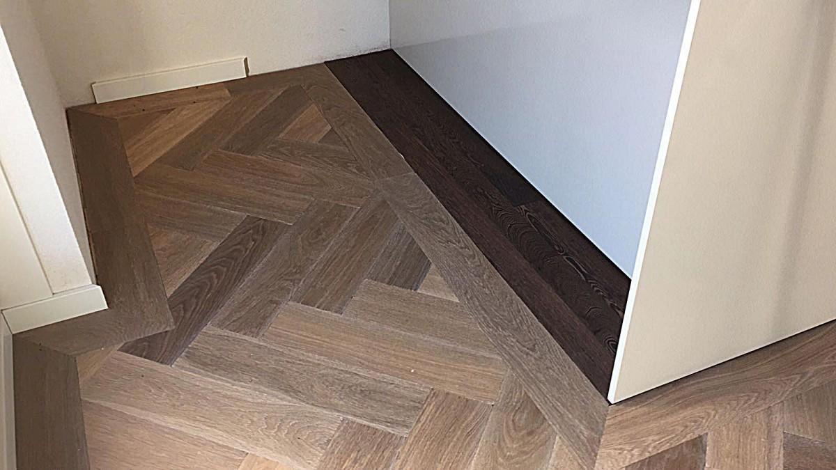 Visgraat parket vloerverwarming visgraat vloer uipkes houten